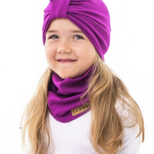Turban dvouvrstvý purple